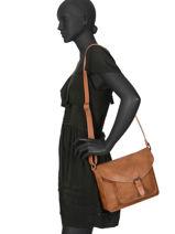 Sac Bandoulière Brown Miniprix Beige brown H6711-vue-porte