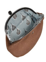 Small Leather Glitter Purse Mila louise Brown vintage 3304G-vue-porte