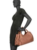 Leather Tote Bag 24h Gd Gerard darel Brown gd DKS31410-vue-porte