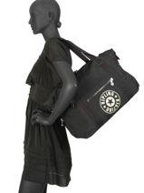 Sac Shopping New Classics Kipling Noir new classics 12522-vue-porte