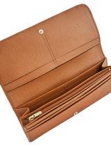 Longchamp Cavalcade Wallet Brown-vue-porte
