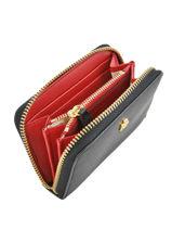 Small Leather Zip Wallet Dryden Lauren ralph lauren Black dryden 32754175-vue-porte