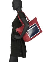 Shoulder Bag A4 L12.12 Animation Lacoste Black l12.12 animation NF2999OA-vue-porte