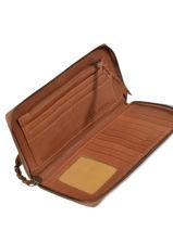 Wallet Leather Paul marius Beige vintage CHARLOTT-vue-porte