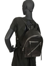 Leather Backpack K Odina Karl lagerfeld Black k odina 96KW3050-vue-porte