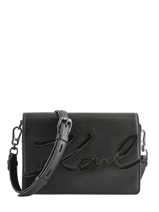 Shoulder Bag K Signature Leather Karl lagerfeld Black k signature 81KW3057