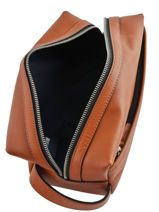 Leather Toiletry Case Casual Tommy hilfiger Brown casual leather AM05316-vue-porte