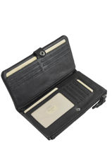 Leather All-in-one Wallet Mila louise Black vintage 3367C-vue-porte