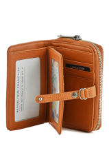 Wallet Leather Lancaster Brown soft vintage nova 60-vue-porte