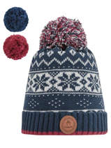 Hat with removable pompom-CABAIA
