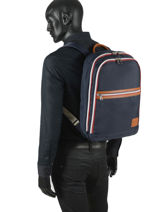 "Backpack World Cup With 15"" Laptop Sleeve Serge blanco Blue world cup WRC41024-vue-porte"