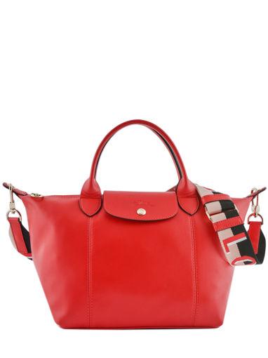 Longchamp Le pliage cuir webbing Handbag Red