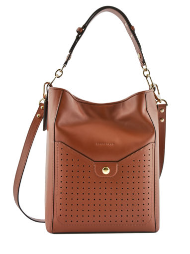 Longchamp Mademoiselle longchamp Sacs porté travers Marron