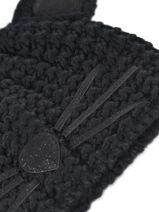 Hat K Choupette Karl lagerfeld Black minaudieres 96KW3402-vue-porte