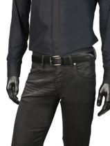 Ceinture Homme Cuir Lacoste Noir belt RC4002-vue-porte