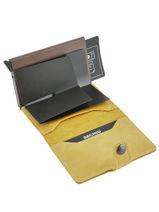 Vintage Leather Card Holder Secrid Beige vintage MV-vue-porte