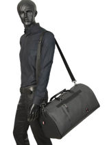 Sac De Voyage Cabine Coated Canvas Tommy hilfiger Noir coated canvas AM05040-vue-porte