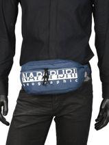 Belt Bag Happy Napapijri Blue geographic NOYIYO-vue-porte