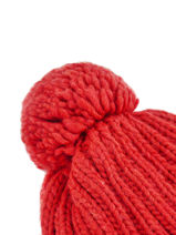 Bonnet Napapijri Rouge geographic NOYKCK-vue-porte