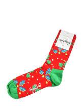 Socks xmas holly-HAPPY SOCKS-vue-porte