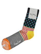 Chaussettes stripes dots-HAPPY SOCKS-vue-porte