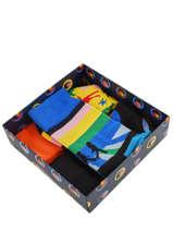 Coffret Cadeau 3 Paires De Chaussettes The Beatles Happy socks Multicolore pack XBEA08