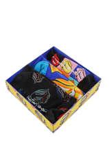 Coffret Cadeau Happy socks Noir pack XRLS08