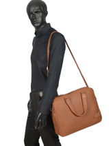 Large Leather Business Bag Bart Arthur et aston Brown bart 1978-02-vue-porte