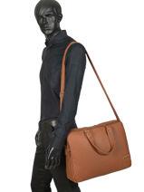 Medium Leather Business Bag Bart Arthur et aston Brown bart 1978-03-vue-porte