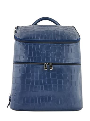 Longchamp Croco block Sacs à dos Bleu