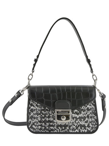 Longchamp Mademoiselle lgp serpent d'eau Messenger bag Black