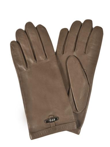 Longchamp Roseau Croco Gloves Black
