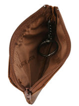Leather Bart Coin Purse Arthur et aston Brown bart 1978-989-vue-porte
