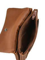 Leather Bart Coin Purse Arthur et aston Brown bart 1978-949-vue-porte