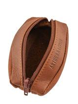 Leather Bart Purse Arthur et aston Brown bart 1978-209-vue-porte