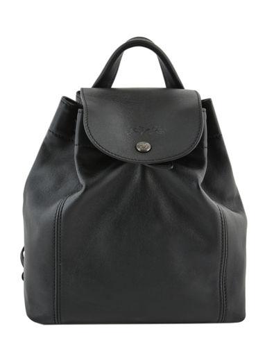 Longchamp Le pliage cuir Backpack Black