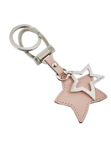 Longchamp Le pliage cuir Key rings Pink