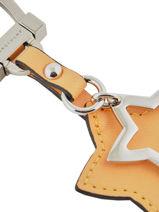 Longchamp Le pliage cuir Porte clés Jaune-vue-porte