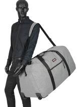 Travel Bag Authentic Luggage Eastpak Gray authentic luggage K30E-vue-porte