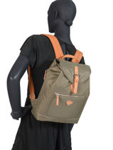 Backpack Uppsala Jump Green cassis soft 8260-vue-porte