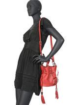 Small Tote Bag Premier Flirt Lancel Red premier flirt A10109-vue-porte