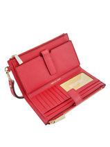 Leather Wallet New Hamilton Michael kors Red money pieces F9GAFW4L-vue-porte