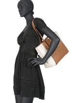 Leather Tote Bag Mae Michael kors Black mae H9GM5T8B-vue-porte