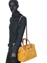 Carry-on Travel Bag Uppsala Jump Brown 4455NU-vue-porte