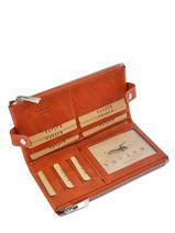Wallet Leather Katana Orange basile 853118-vue-porte