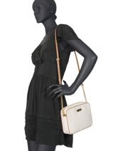 Leather Crossbody Bag Ginny Michael kors Beige jetset S7GJSC7B-vue-porte