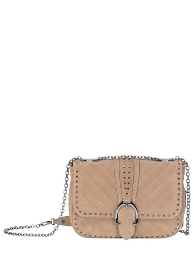 Longchamp Amazone clou Besaces Beige