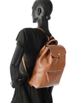 Longchamp Sac à dos Marron-vue-porte