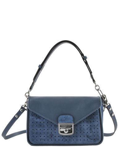 Longchamp Mademoiselle longchamp velours Besaces Bleu