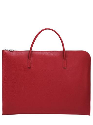 Longchamp Le foulonné Serviette Rouge